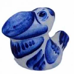 Ворона гжель, 4.5 см, арт 4058