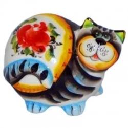 Кот цветной  9.5 см, арт 1066