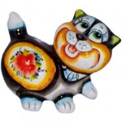 Кот цветной 13 см, арт 1078