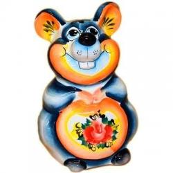 Мышка-копилка цветная, 14.5 см, арт.2679