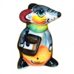 Мышка с портфелем цветная 5.2 см. арт.2695