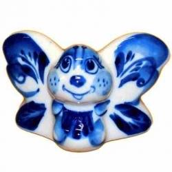 Бабочка гжель 4.8 см., арт 4119
