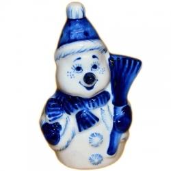 Фигурка Снеговик гжель, 10.5 см, арт.2708
