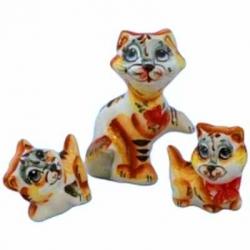 Кошачья семейка фарфор 10 см, арт. 10114