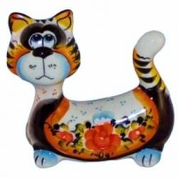 Кот цветной 13 см, арт 1054