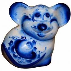 Фигурка мышь с росписью