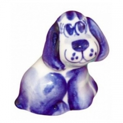 Собачка гжель 4 см, арт 2016