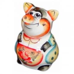 Свинья цветная 7 см. арт.2516