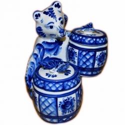 Медведь с бочонками , 19 см, арт. 9005