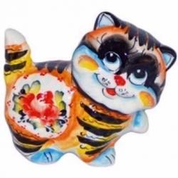 Кот цветной 10.5 см, арт 1040