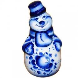 Сувенир Снеговик гжель, 10 см, арт.2703