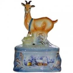 """Штоф """"Коза на скале"""", цветной, 25 см., 0.5 л,"""