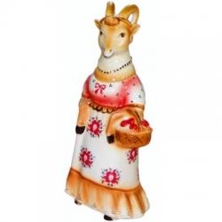 """Штоф """"Коза с корзинкой"""", 25 см., 0.5.л"""