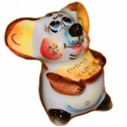 Мышь с сыром цветная 5.5 см. арт.2613