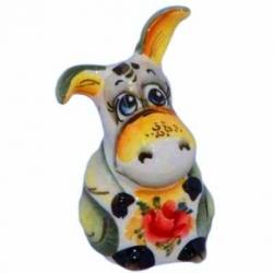 Фигурка ослик фарфоровый 9 см., арт. 4108