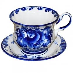 Пара чайная,  арт. 9010, 9х14.5 см., объем 0.3 литра