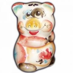 Свинка фарфоровая цветная 6.5 см., арт.2574
