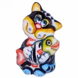 Кот цветной 12 см, арт 1050