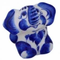 Слоник гжель, 6 см, арт 4075