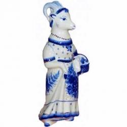 """Штоф """"Коза с корзинкой, 25 см., 0.5 л,"""