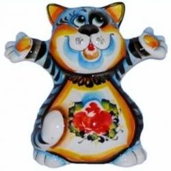 Кот цветной 13.5 см, арт 1082