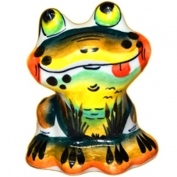 Лягушка цветная 7 см, арт 4146