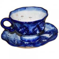 Чайная пара с пейзажем, 16.5х8 см,  0.26 л., арт.9054