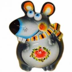 Крыса-копилка цветная , 15.5 см, арт.26104