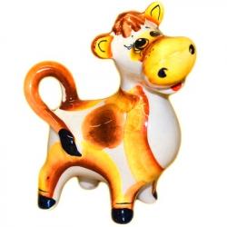 Статуэтка бык цветной 9.5 см., 2827
