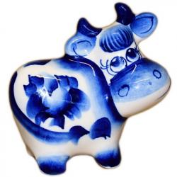 Корова Гжель, 7.5 см, 2813