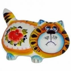 Кот цветной 12 см, арт 1070