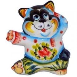 Кот цветной 11.5 см, арт 1076