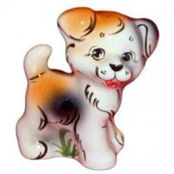 Собака цветная, 11.5 см, арт 2032