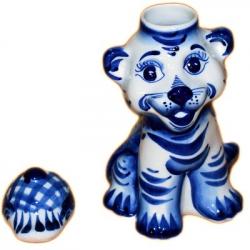 Чайница гжельская к году тигра
