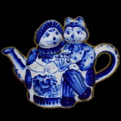 """Чайник """"Кот с кошкой"""" арт.9174, 20х14 см., 0.45 л."""