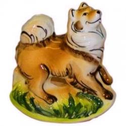 Собака-качалка цветная, 12 см, арт 2058