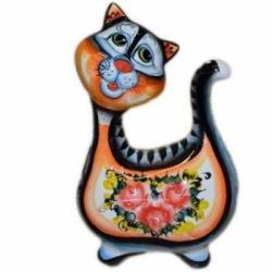 Кошка цветная 19 см, арт 10104