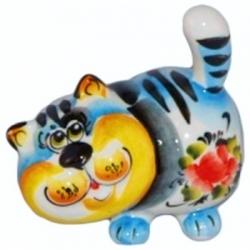 Кот цветной 8.5 см, арт 1034