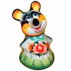 Мышь-девочка цветная 8 см, арт.2652