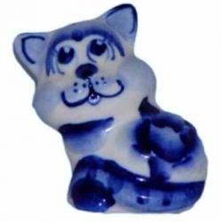 Кот гжель 4.5 см, арт 1061