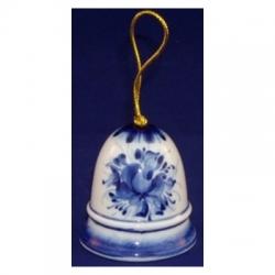 Колокольчик с росписью гжель 5.5  см., арт.1613