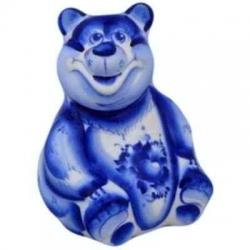 Медведь гжель, 12 см, арт 4093