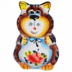 Кот-солонка цветной 8.5 см, арт 1032