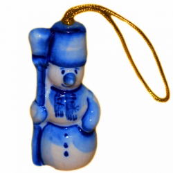 Елочная игрушка Снеговик 7  см, 2718