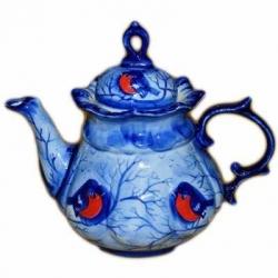 Чайник со снегирями 16.5, 0.55 л,, арт. 9039