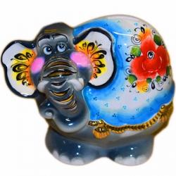 Слон-копилка с позолотой, 19 см, арт 4053