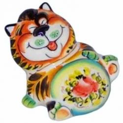 Кот цветной 10 см, арт 1044