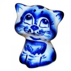Котенок гжель  6.5 см, арт 1094