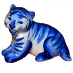 Тигр гжель, 10,5 см., 2987