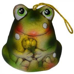 Лягушка-колокольчик керамика 6.5 см., арт. 1127